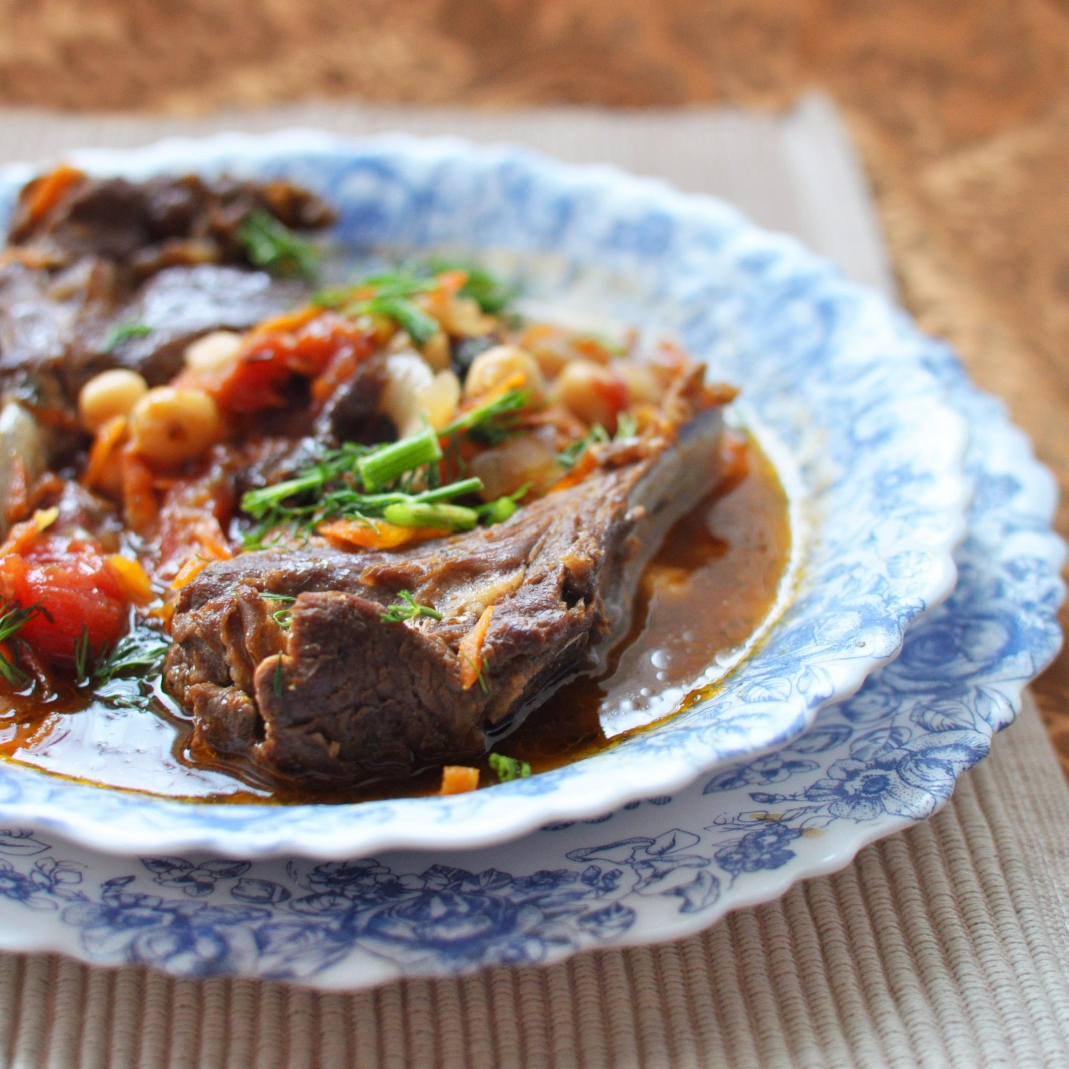 Баранина с овощами - пошаговый рецепт с фото - как