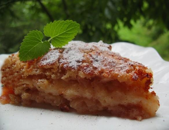 Пирог с яблоками сочный