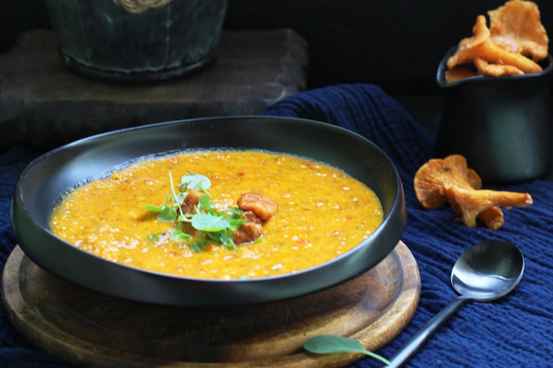 увольнении принял крем суп из лисичек рецепт с фото перьев